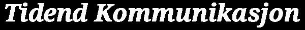 Logo_Tidend_Kommunikasjon_600X60_2.5_greyff_transp